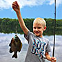 Boy with Bluegill